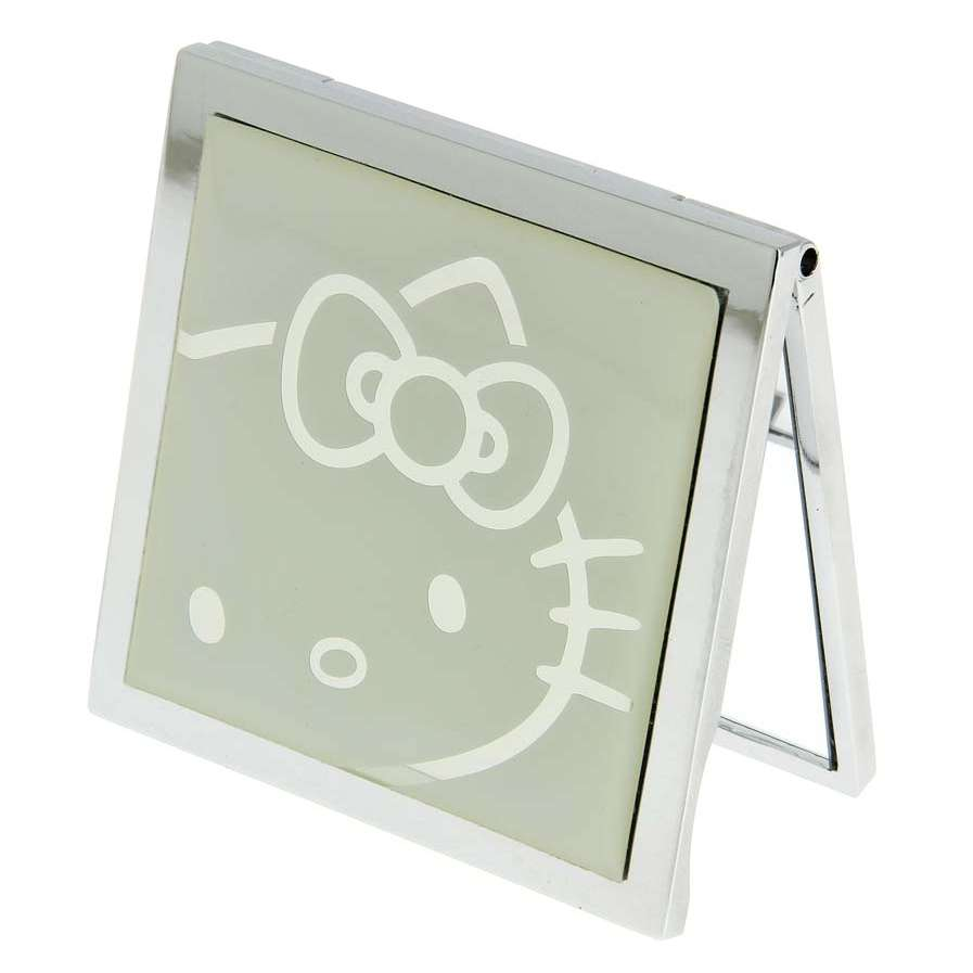 Hello Kitty Square Compact Mirror - White