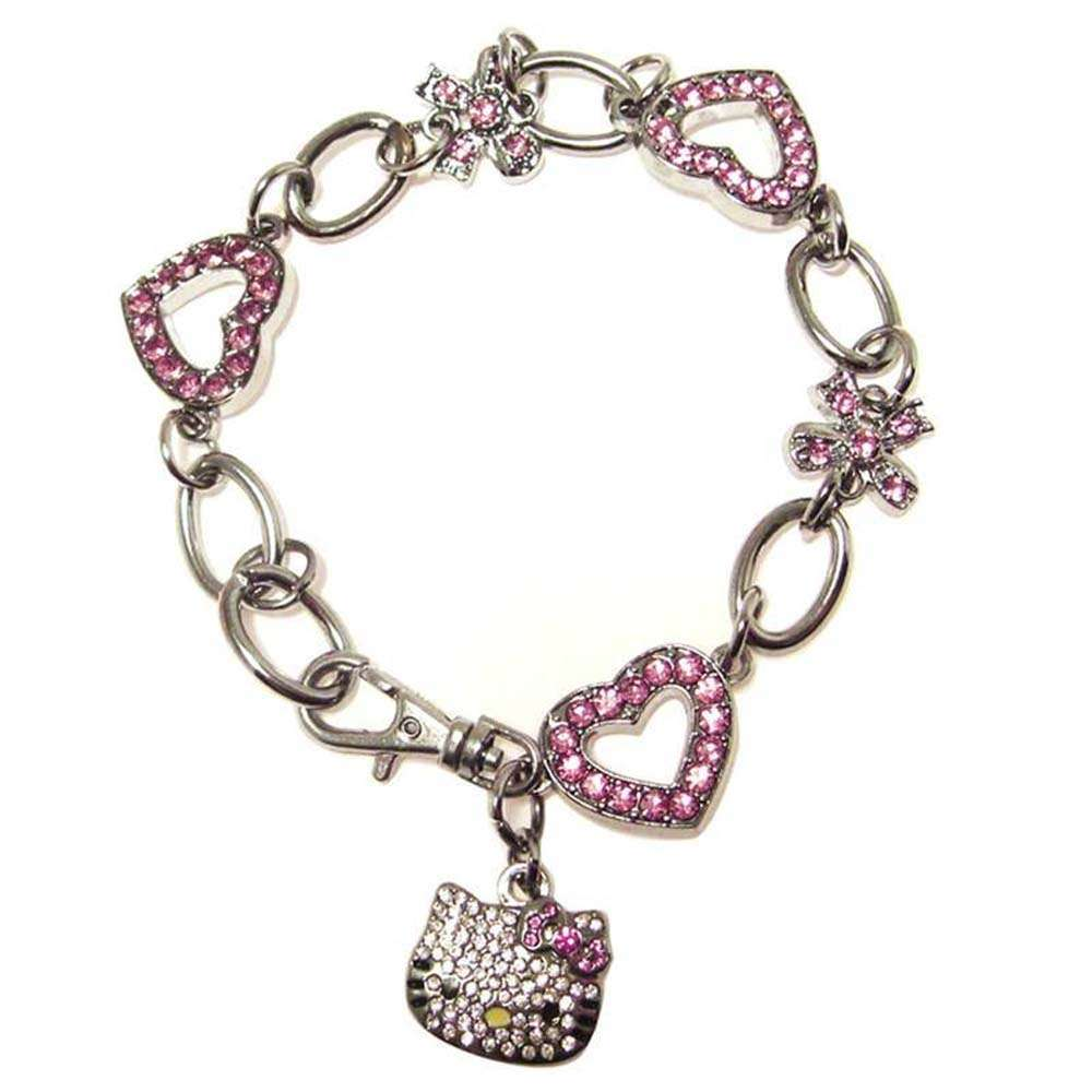 Hello Kitty Austrian Crystal Bracelet 22 cm