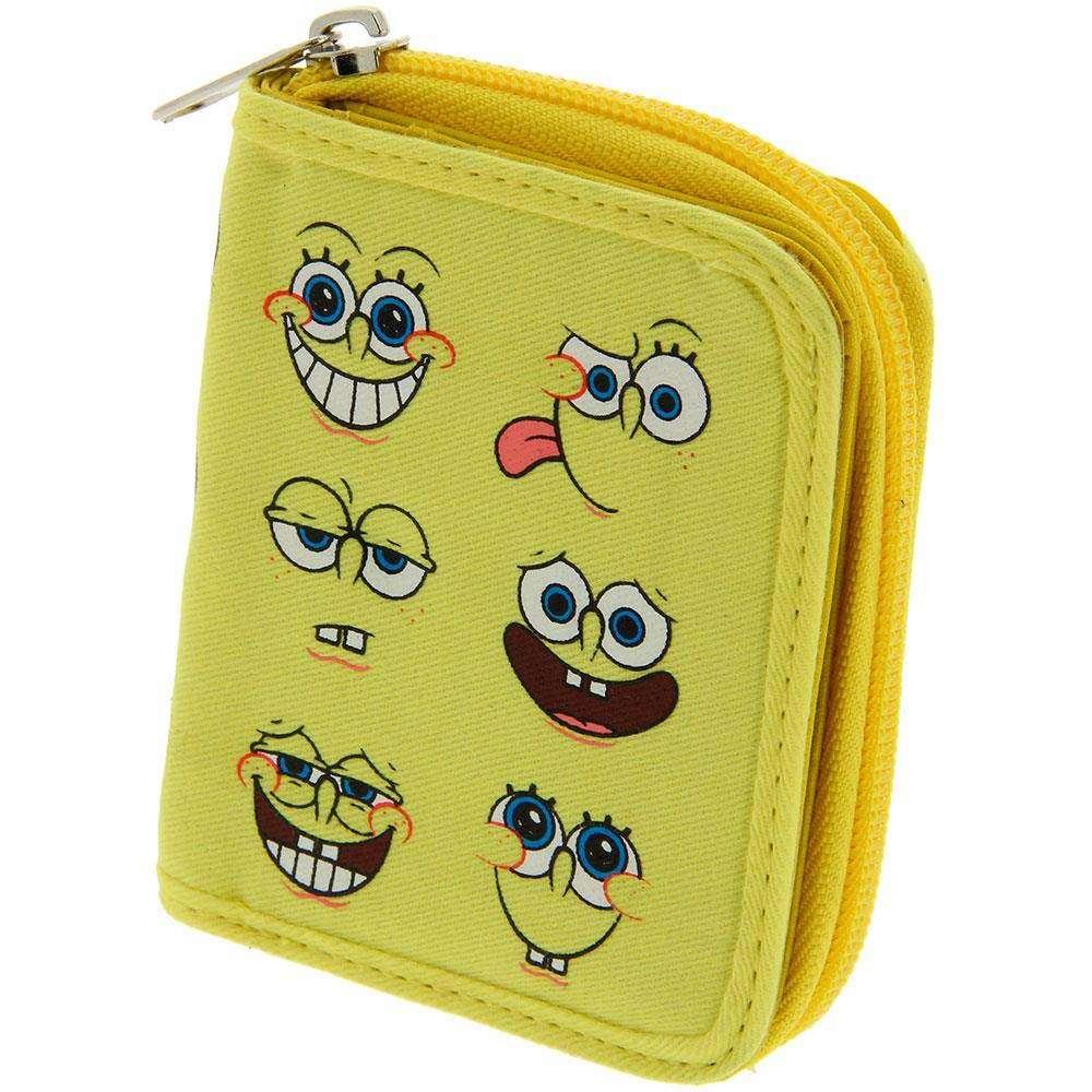 Sponge Bob Multi character Zip Wallet