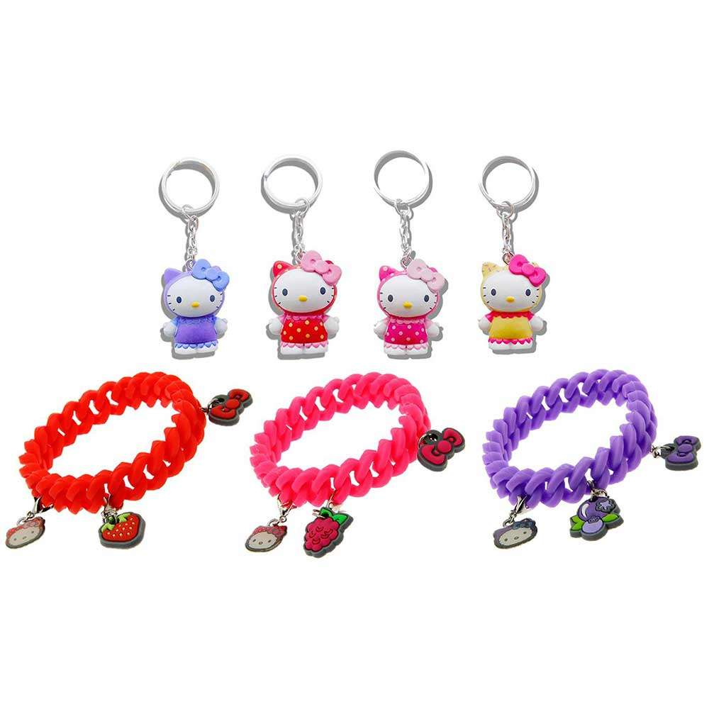 HELLO KITTY - SURPRISE SCENTED CHARM BRACELET & SCENTED 3D KEYRING