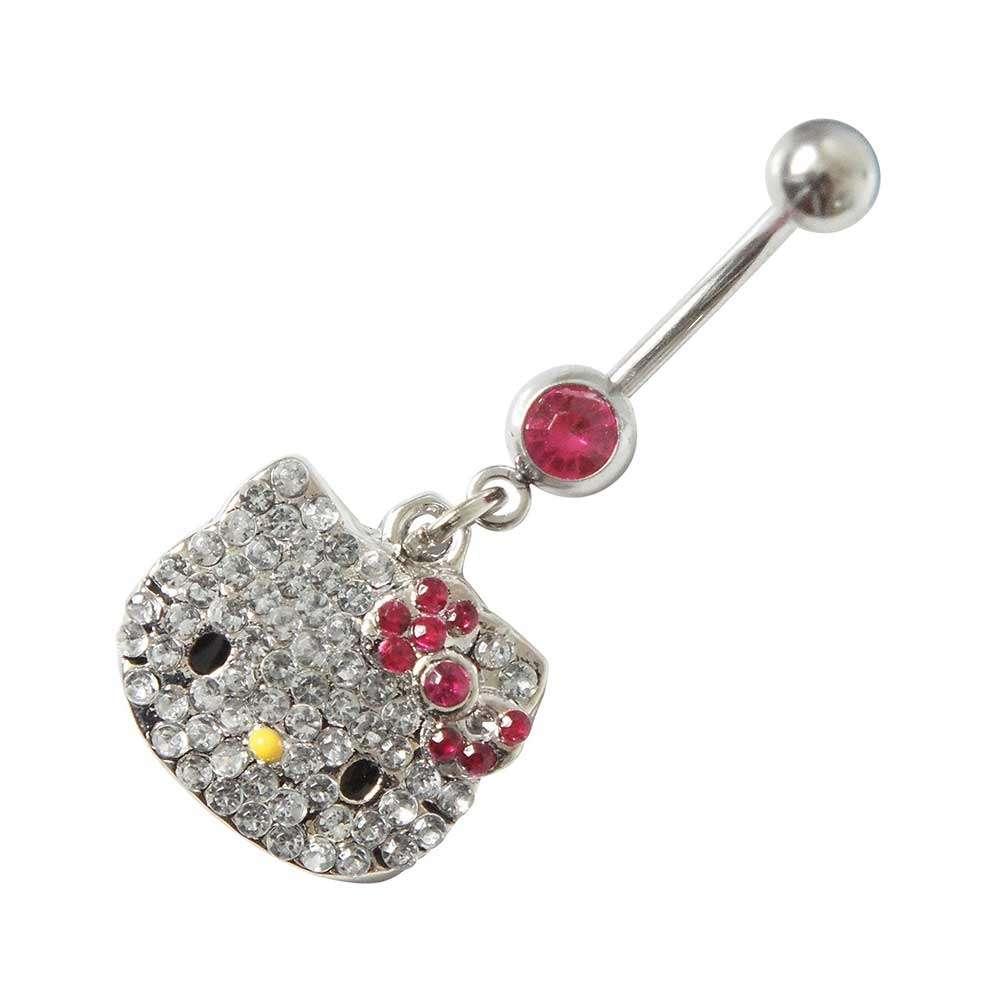 Sparkling Kitty-Hello Kitty Bling Belly Bar (Austrian Crystal)