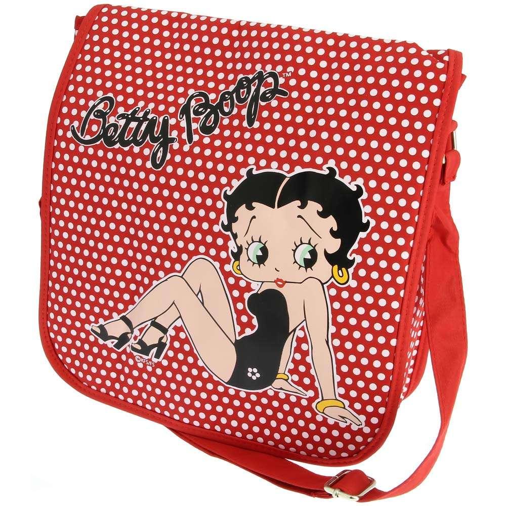 Betty Boop Themed Polka dot Messenger Bag
