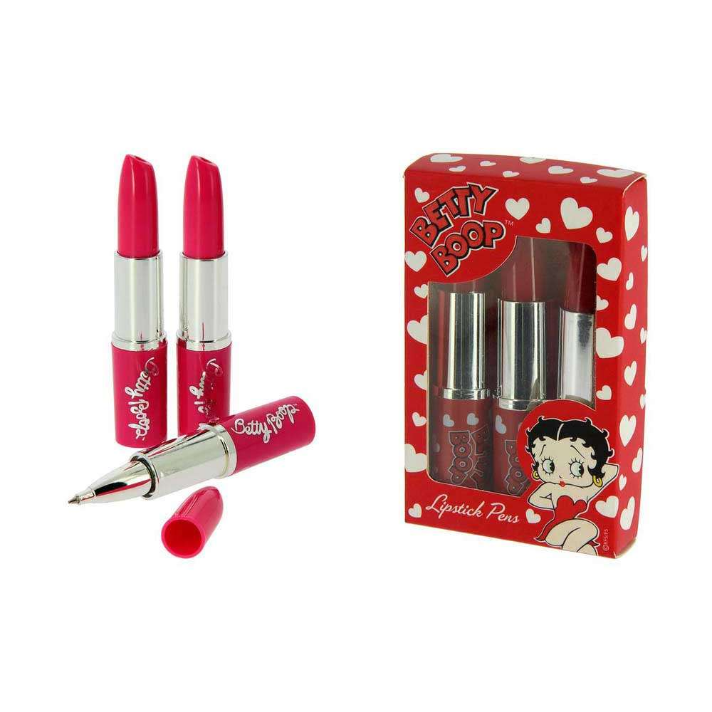 Betty Boop Red Heart Lipstick Pen & Stepping out Lipstick pen - 6 PENS