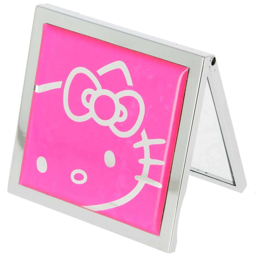 Hello Kitty Square Compact Mirror - Pink