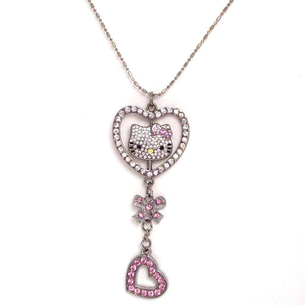 Hello Kitty Austrian Crystal Necklace