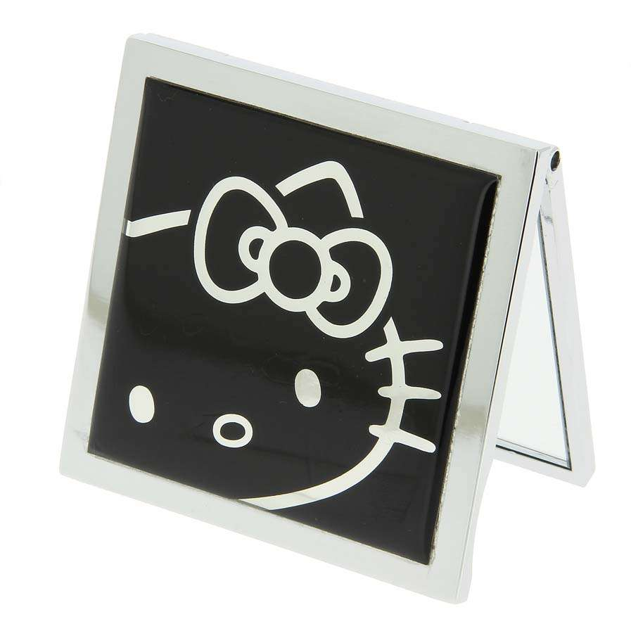 Hello Kitty Square Compact Mirror - Black