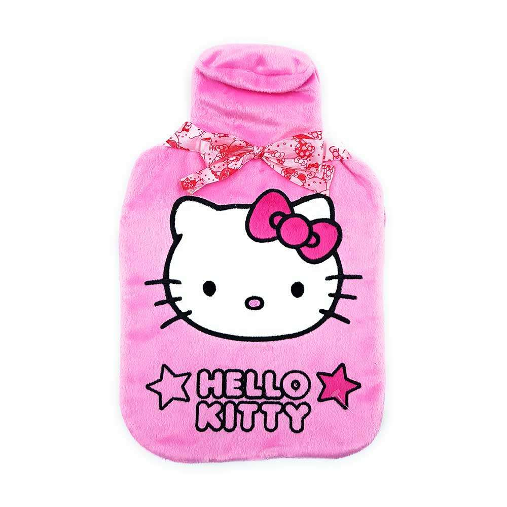 Hello Kitty Pink Hot Water Bottle & cover set - 2Ltr